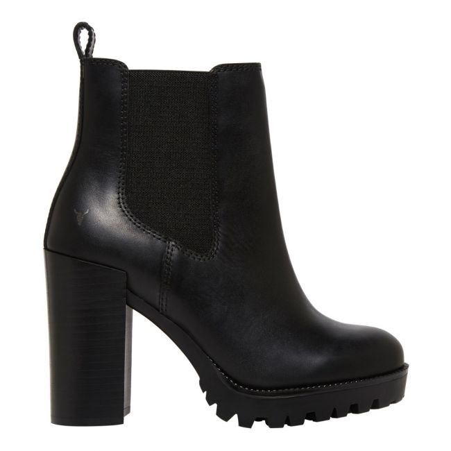Fiona Black Leather Ankle Boot | Women