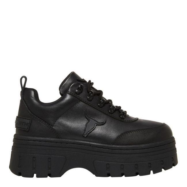 Lux Black Sneaker   Women's Chunky 90s