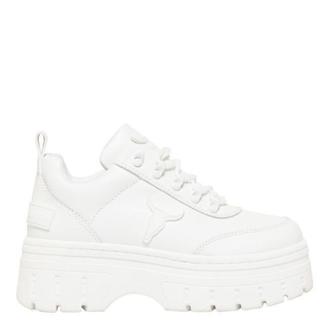 white platform trainers 90s