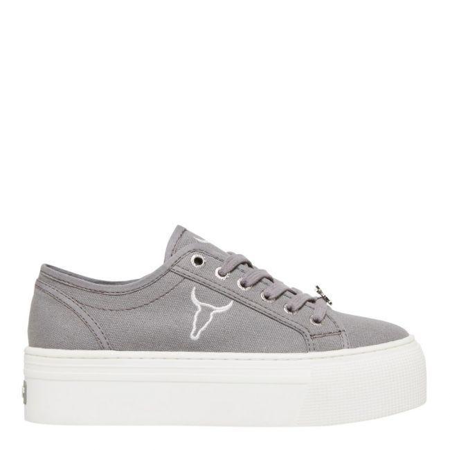 Ruby Grey Canvas Sneaker | Casual