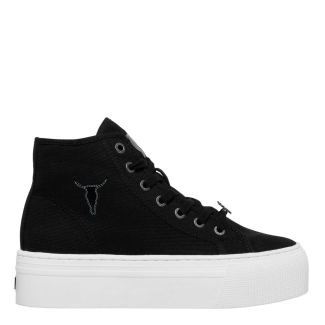 women's black canvas sneakers