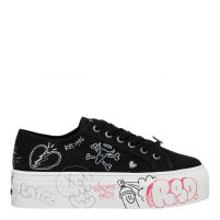 RIDIN BLACK CANVAS SNEAKER