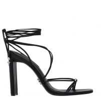 VENOM BLACK LEATHER HEEL