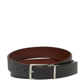 ALEC REVERSIBLE BELT BLACK/WHISKEY