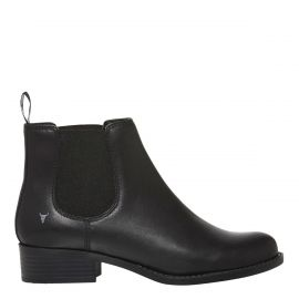 Windsor Smith black gusset boot