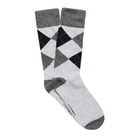 ARGYLE MEN'S DRESS SOCK GREY MARLE