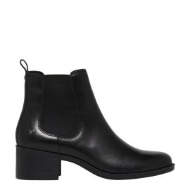 BEYOND BLACK LEATHER BOOT