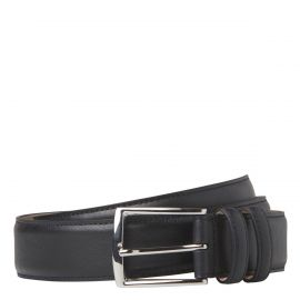 MEN'S DRESS BELT BLACK LEATHER