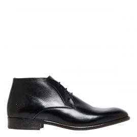 BRADLEY BLACK LEATHER BOOT