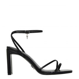 CALLIE BLACK LEATHER HEEL