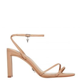 CALLIE NUDE LEATHER HEEL