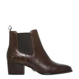 CARMEN CHOCOLATE LEATHER BOOT