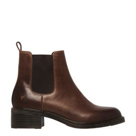 CECE CHOCOLATE LEATHER BOOT