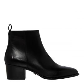 CLIMB BLACK LEATHER BOOT