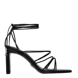 CONFESS BLACK LEATHER HEEL