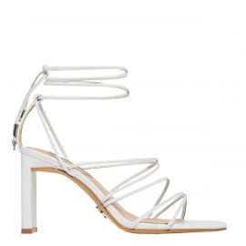 CONFESS WHITE LEATHER HEEL