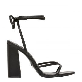 DATENIGHT BLACK LEATHER HEEL