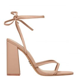 DATENIGHT NUDE LEATHER HEEL