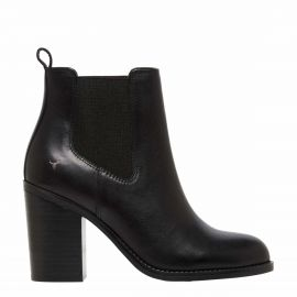 Women's Black ankle boot with middle gusset - side view - Denver Windsor Smith