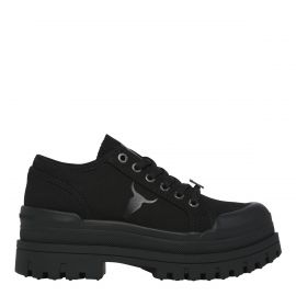 DEUCES BLACK CANVAS SNEAKER