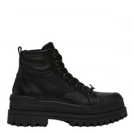 DISASTER BLACK LEATHER BOOT
