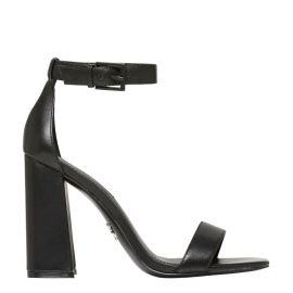 DREAMING BLACK LEATHER HEEL