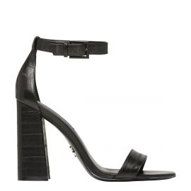 DREAMING BLACK PANEL LEATHER HEEL