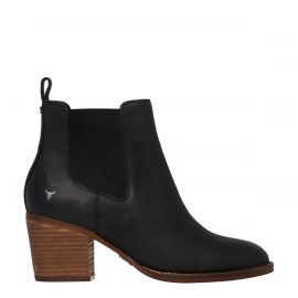 FAITH BLACK LEATHER BOOT