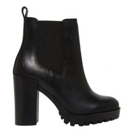 Women's black gusset boot with a block heel from Windsor Smith shoes