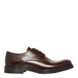 Men's Tan Cognac Dress Shoes - side view. Windsor Smith