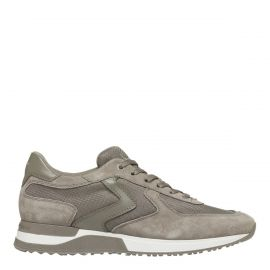 Jay - Men's Taupe Leather, Suede, Mesh sneakers from Windsor Smith shoes - Side view