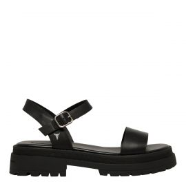 LINGER BLACK LEATHER SANDAL