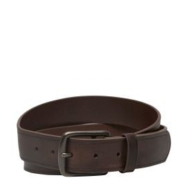 LOUIS JEAN BELT CHOCOLATE LEATHER