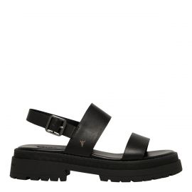 LOYALTY BLACK LEATHER SANDAL