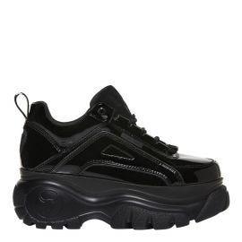 Black chunky platform bubble sneaker