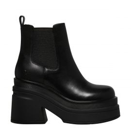 MAGNETIC BLACK LEATHER BOOT