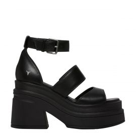 MATCH BLACK LEATHER SANDAL