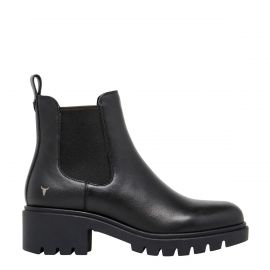 OBSESS BLACK LEATHER BOOT