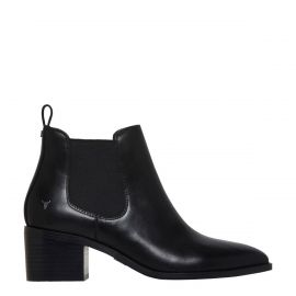 PROMISES BLACK LEATHER BOOT