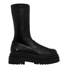 PUNISH BLACK STRETCH SOCK BOOT