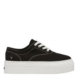 REKINDLE BLACK CANVAS SNEAKER
