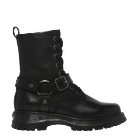 REVENGE BLACK LEATHER BOOT