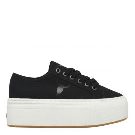 SHATTER BLACK CANVAS SNEAKER
