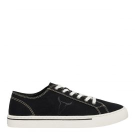 SNIPER BLACK CANVAS SNEAKER