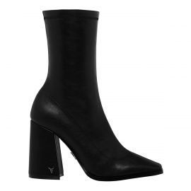 SWOON BLACK STRETCH SOCK BOOT