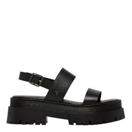 TASTY BLACK LEATHER SANDAL