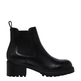 THRILLS BLACK LEATHER BOOT