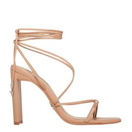 VENOM NUDE LEATHER HEEL
