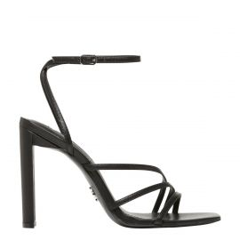 VENUS BLACK LEATHER HEEL