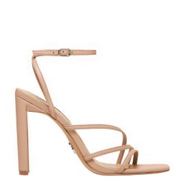 VENUS NUDE LEATHER HEEL